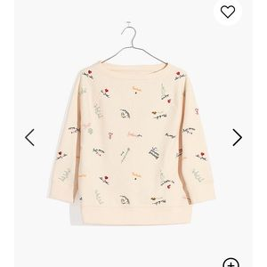 Madewell Embroidered Sweatshirt